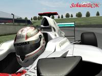 Michael Schumacher 300th GP helmet screenshot by SchumiBCN