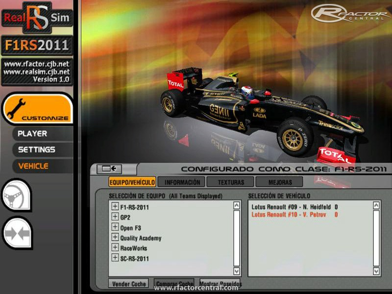 Mod F1RS2011 GP2 F3 and TrackPack F1RS2011 RTP 2 by Nucleorion